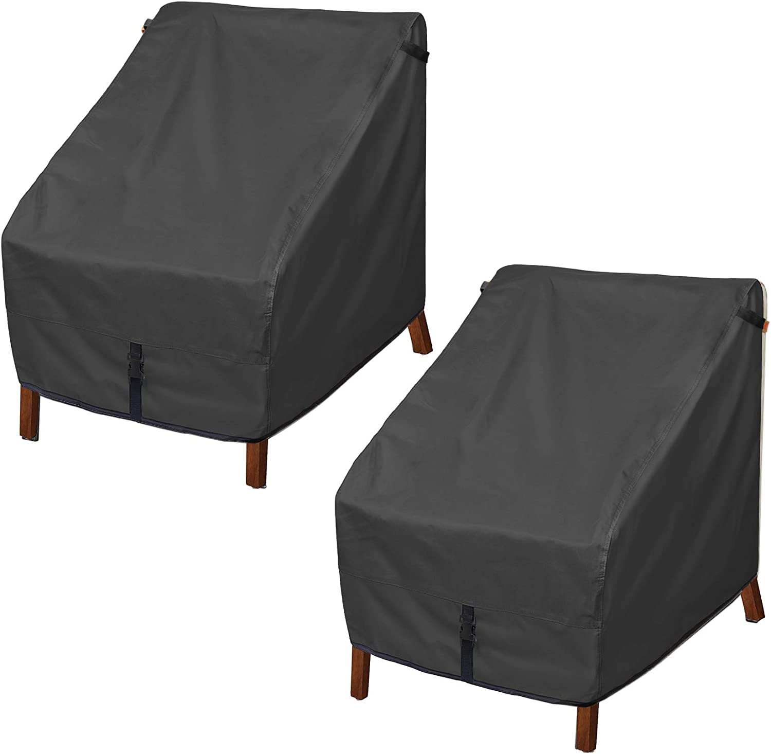 Porch Shield Patio Chair Covers - Waterproof Outdoor Single Armchair High Back Adirondack Chair Cover 2 Pack - 30W x 33D x 34H inch, Black