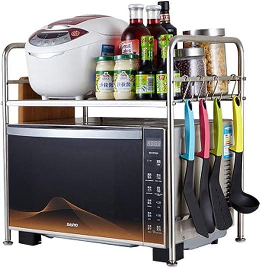 YJWOZ Parrilla Doble For Horno, Parrilla De Acero Inoxidable For Cocina, Parrilla Multifuncional (4 Ganchos) Rejilla de microondas: Amazon.es: Hogar