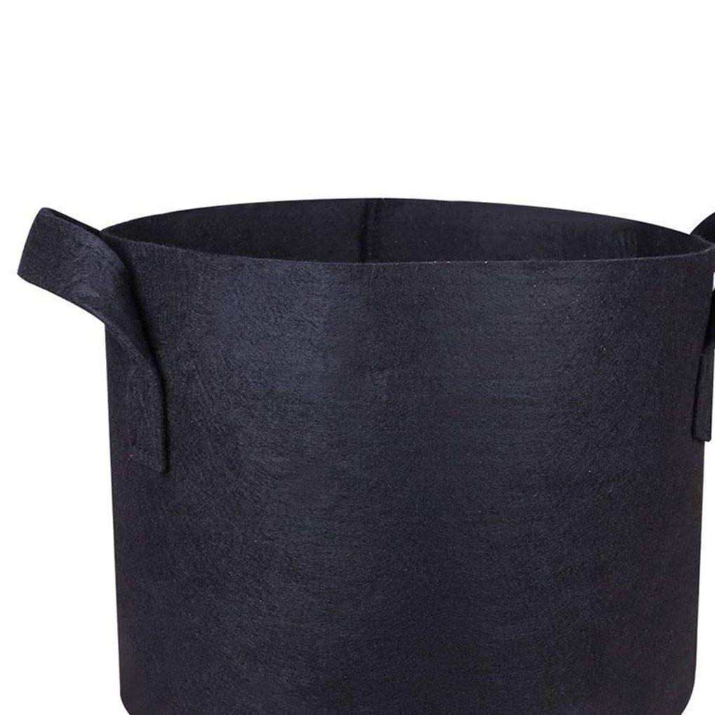 F-blue 75 Gallon Grow Bags Non Woven Grow Bag Cloth Planting Pots Grow Pouches Fabric Handles Vegetables Container