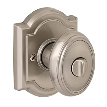 Baldwin Prestige Carnaby Bed/Bath Knob In Satin Nickel
