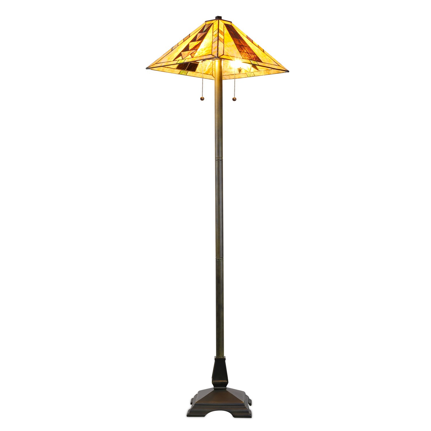 Tiffany style mission floor lamp amazon geotapseo Choice Image
