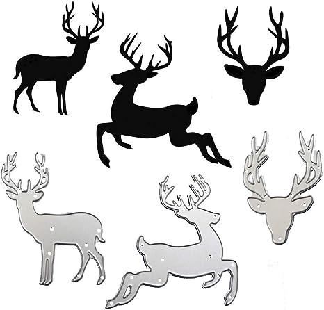 Christmas Deer Metal Steel Embossing Cutting Die Scrapbooking Paper Card Stencil