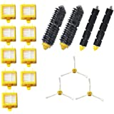 Amyehouse Replacement Parts Kit Includes Bristle Brush & Flexbile Beater & Side Brush & Hepa Filters for Irobot Roomba 700 Series 760 770 780 790 Vacuum Accessories