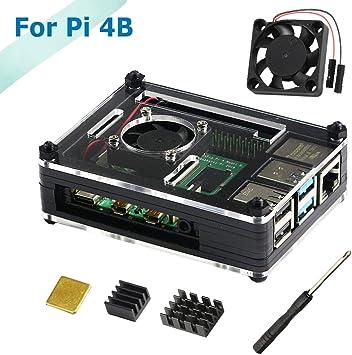 para Raspberry Pi 4 Modelo B Kit Caja con Ventilador De ...