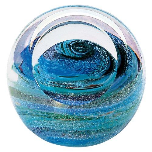 Glass Eye Studio Uranus Blown Glass Paperweight