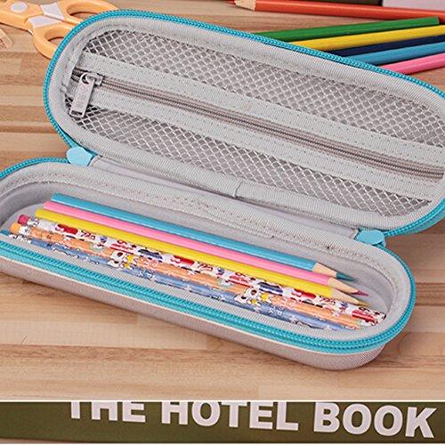 Tragbare Bleistift-Kasten-Feder-Halter-Briefpapier-Bleistift-Kasten-Feder-Lila GEykxl