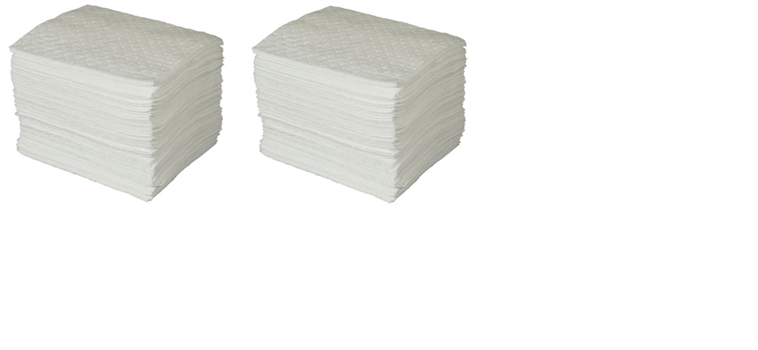 SPC BPO100 BASIC Oil Only Heavy Weight Pad, White, 15'' L x 17'' W (100 Per Bale) (2 Cases) by Brady SPC