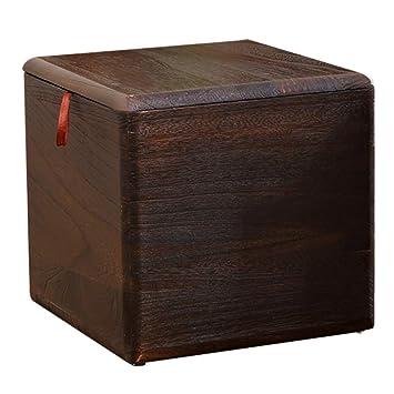 StoolStool Taburete de almacenamiento de Madera maciza, caja de almacenamiento de residuos de juguetes multifuncional