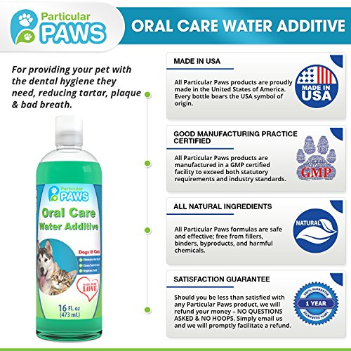Fresh breath water additive for dogs and cats for clean for Dog dental water additive