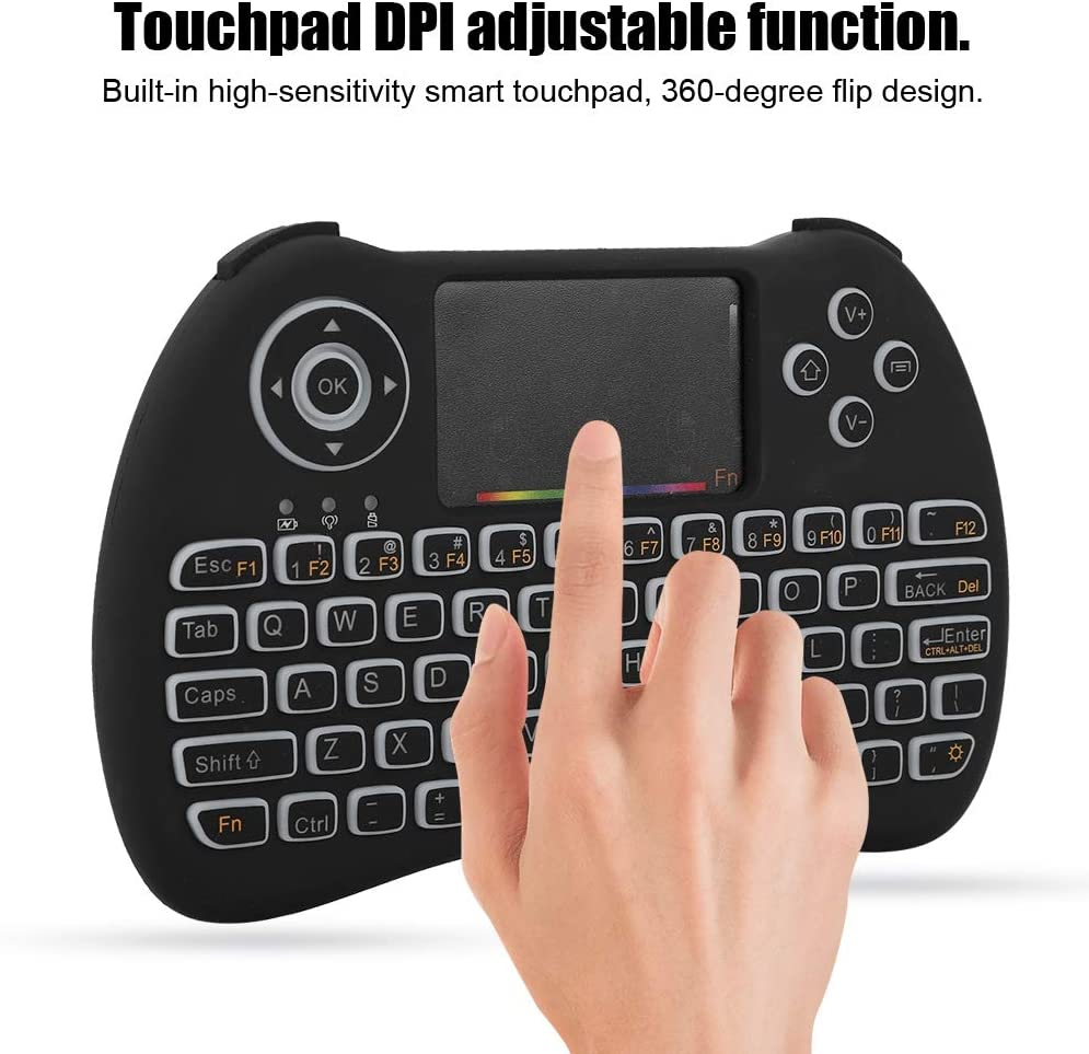 Diyeeni Fly Air Mouse with Mini QWERTY Keyboard,2.4GHz Wireless Keyboard with touchpad,Built-in high-Sensitivity Smart touchpad Remote Control Air Mouse