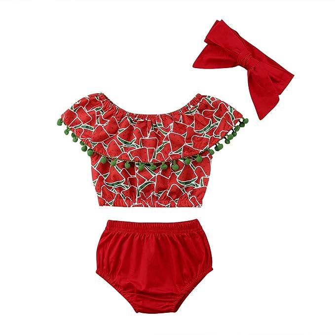 Amazon.com: Conjunto de ropa de 0-24 meses para bebé y niña ...