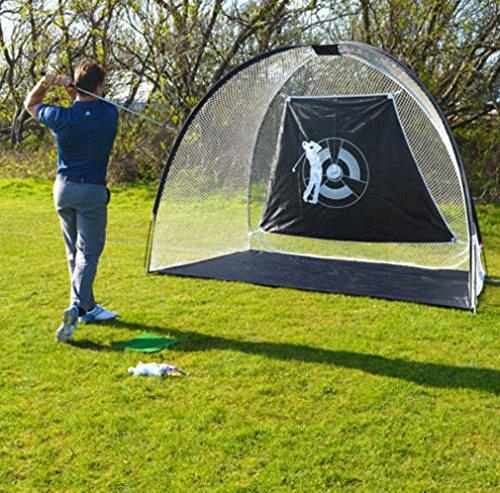 Z ZTDM 10' x 6' x 6' Golf Practice Trainning Net with Carry Bag Black
