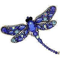 Da.Wa Vintage Style Strass Kristall Libelle Brosche Pin