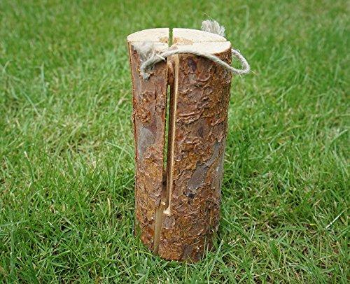 woodson Brenneinsatz 6 Stü ck aus Holz Ö kofeuer Holzbrenneinsatz Schwedenfeuer Holzeinsatz Heizeinsatz ö kologisch Brennmittel Brennstoff