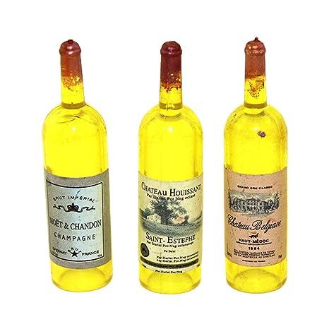 qhtongliuhewu - Juego de 3 Botellas de Vino Tinto vacías ...