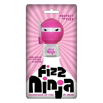 Jokari Fizz Ninja Princess Soda Fresh Pump & Pour 2 Liter Bottle Fizz Keeper