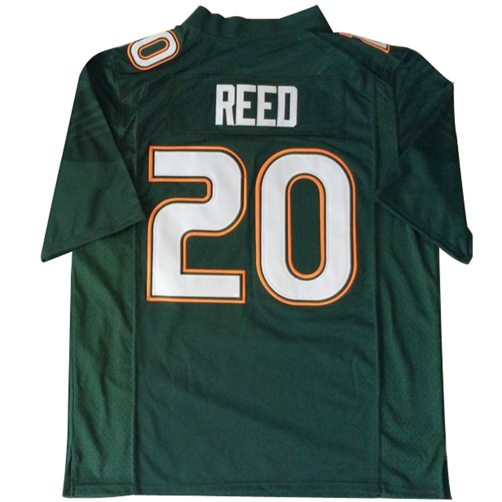 finest selection c64df b429d Amazon.com: Men's Miami Hurricanes #20 Ed Reed American ...