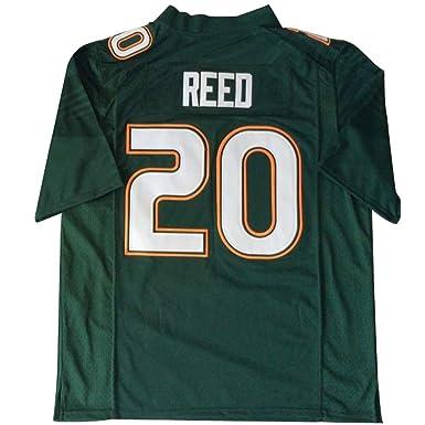 finest selection 2d166 40ba9 Amazon.com: Men's Miami Hurricanes #20 Ed Reed American ...