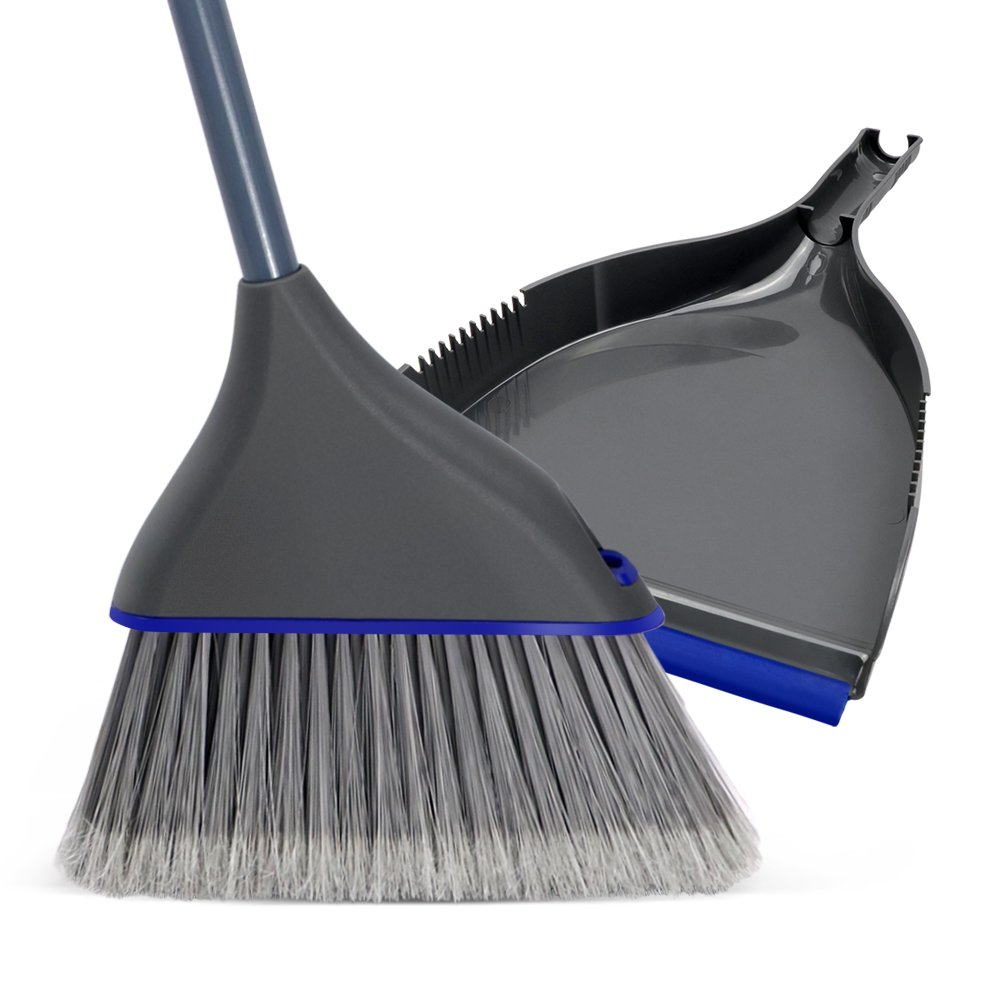 Masthome Household Grip Dustpan and Angle Broom Set