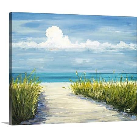 Beach Scene I Canvas Wall Art Print, 30 x24 x1.25