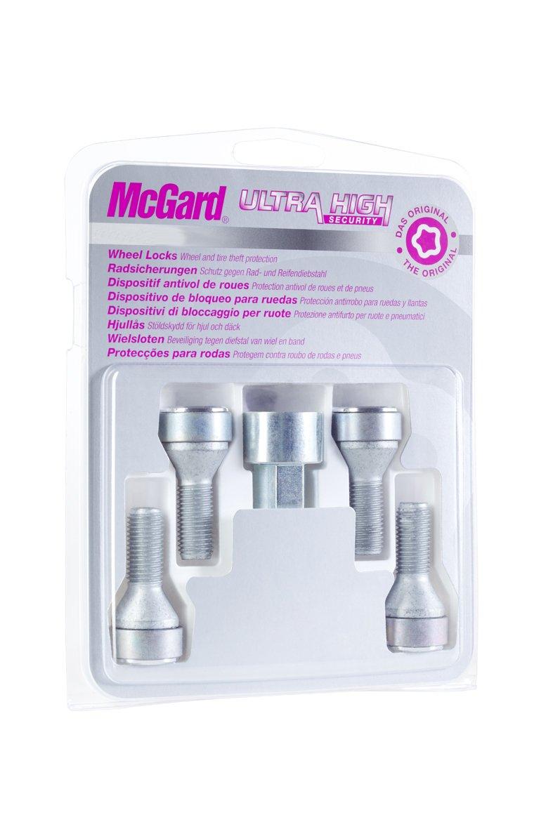 McGard 27013SL 4 vis antivol Haute s/éc 12x1,5//60/°// Long 42.1mm// Douille 17mm