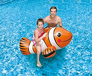 Blue wave clown fish inflatable ride on pool - Amazon inflatable swimming pool toys ...