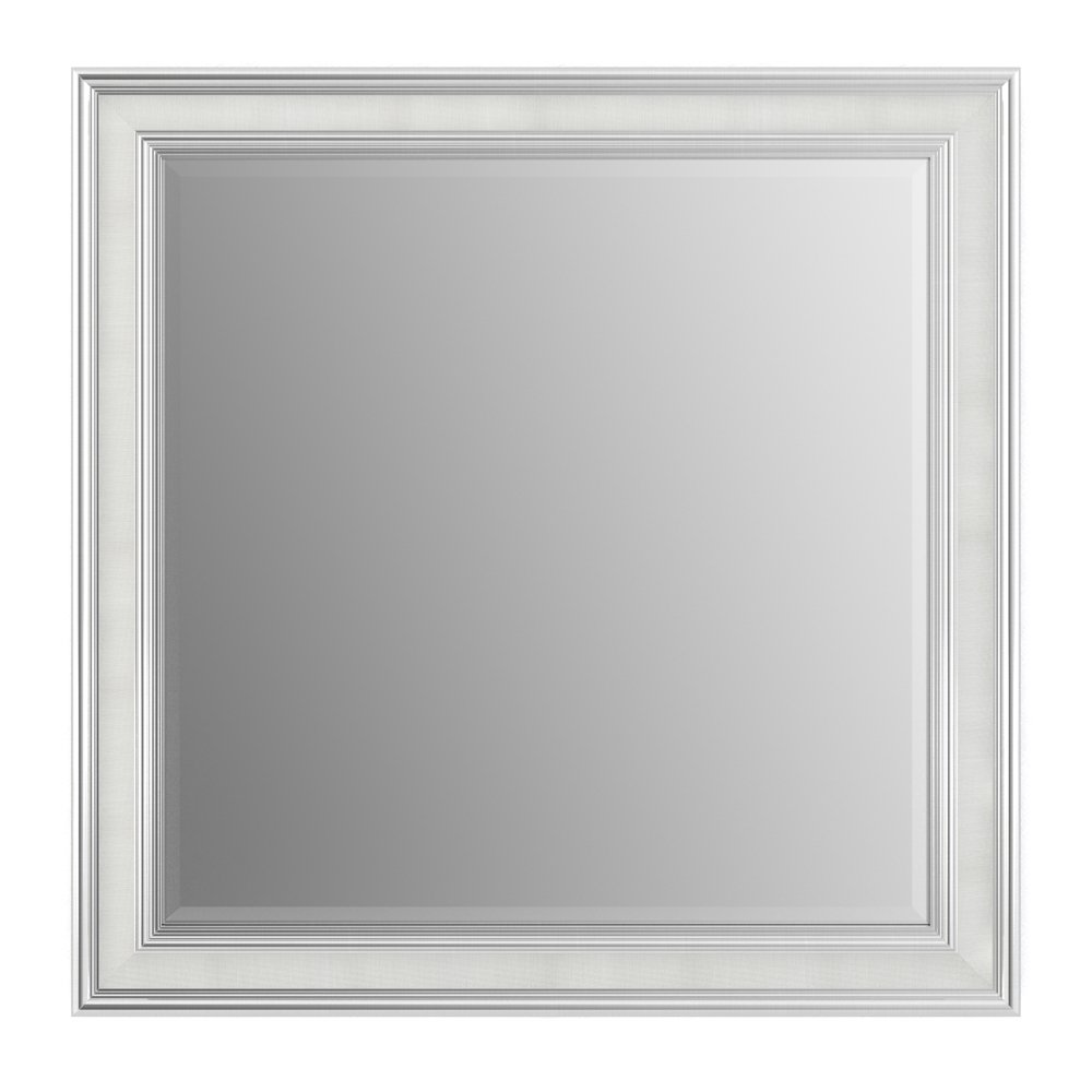 Delta Wall Mount 33 in. x 33 in. Large (L2) Square Framed Flush Mounting Bathroom Mirror in Stone Mosaic with TRUClarity Deluxe Glass Delta Faucet AFMRL2-MDH-R