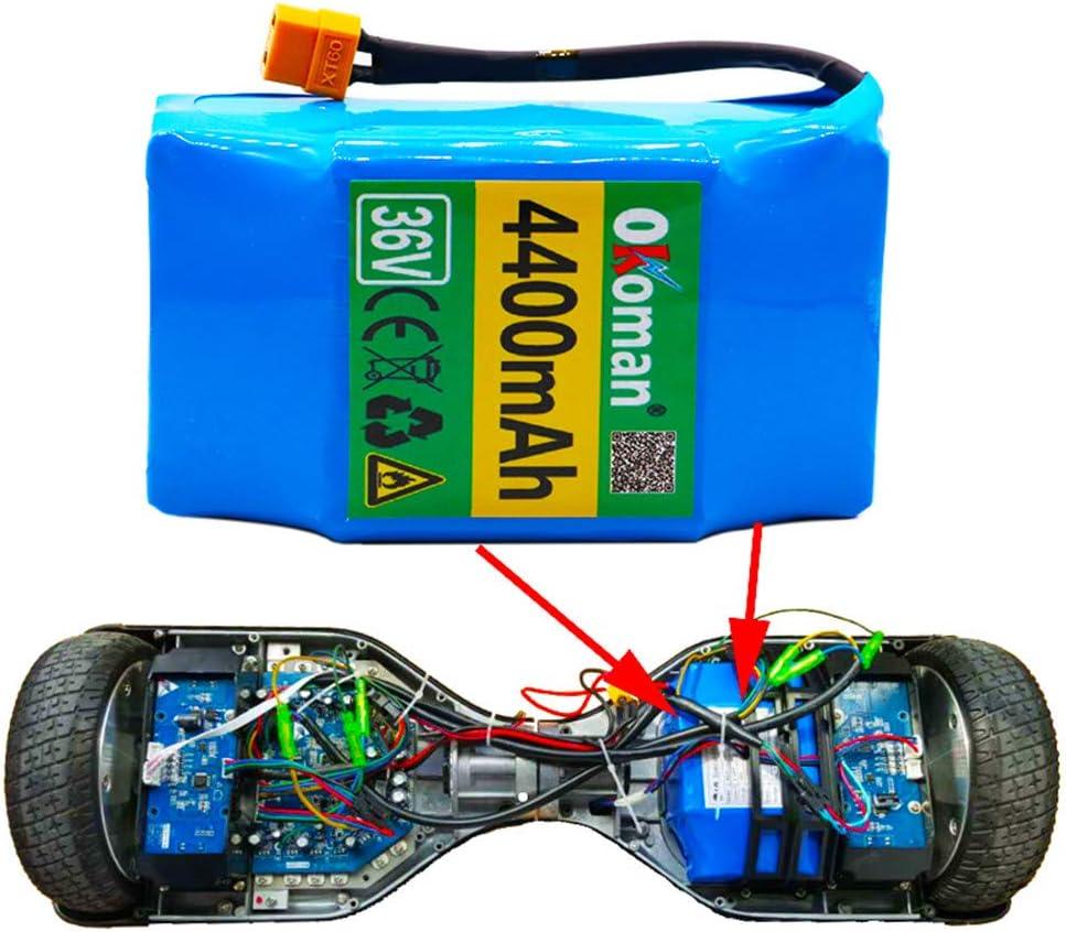 LUC 36V 4.4Ah 4400mah Alto Drenaje 2 Ruedas Scooter electrico Auto Equilibrio Paquete de baterías de Litio para Autoequilibrante para 6.5