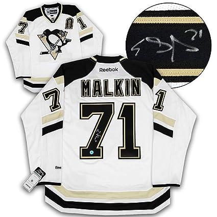 c74e9f00c Image Unavailable. Image not available for. Color  Evgeni Malkin Pittsburgh  Penguins Autographed Autograph 2014 Stadium Series Reebok Jersey ...