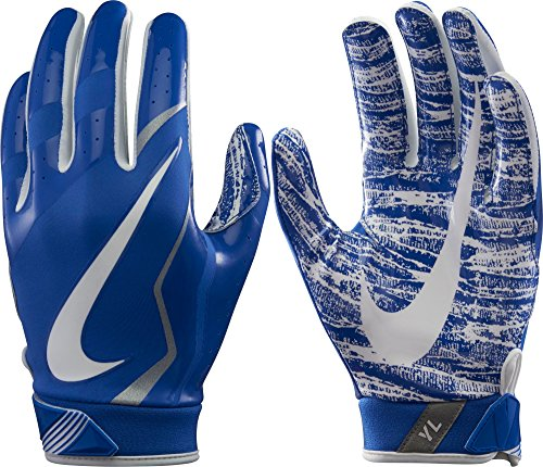 Nike Youth Vapor Jet Gloves 4 Game Royal/White Size Medium (Vapor Youth)