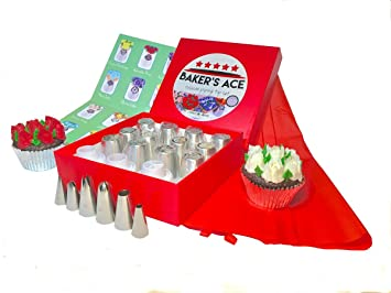 Bakeru0027s Ace Russian Piping Tips Set | Cake And Cupcake Decorating Supplies  | Great Kitchen Gift