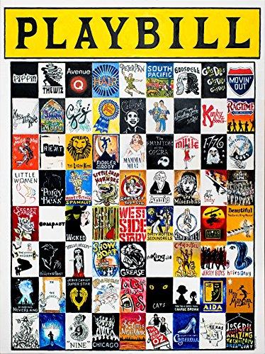 "Playbill - Classic Musicals - 40"" x 30"" High Quality Paper Print by Thomas Jordan"