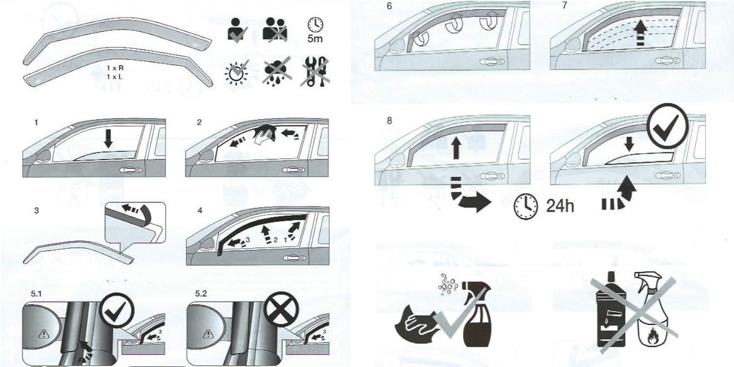 Juego de 2 deflectores de viento para Mercedes Benz SPRINTER W907 VAN MINIBUS 2018 2019 2020 y 2020 OEMM