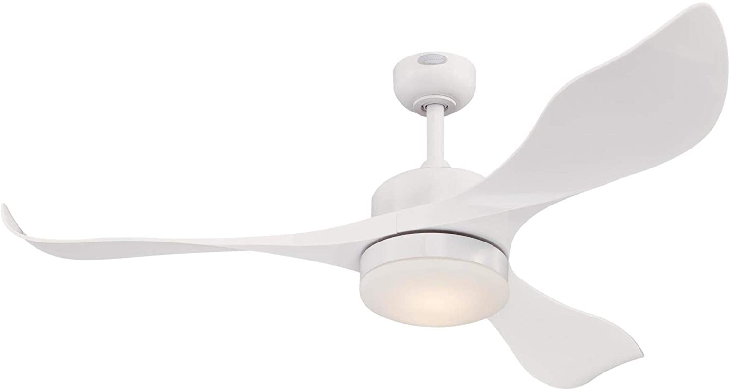 Westinghouse Lighting 7225300 Pierre Indoor Ceiling Fan with Light and Remote, 52 Inch, White