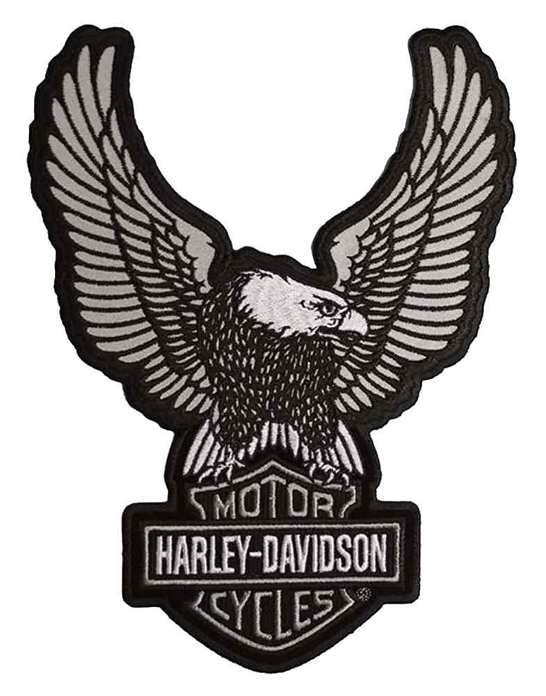 amazon com harley davidson embroider reflective up wing eagle rh amazon com harley davidson eagle logo svg harley davidson eagle logo vector