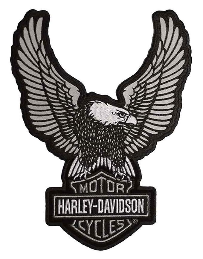 amazon com harley davidson embroider reflective up wing eagle rh amazon com harley davidson eagle logo vector harley davidson eagle logo history