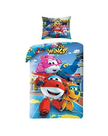 Super Wings Bedding Kinder Bettwäsche 140x200 Cm Oeko Tex Standard
