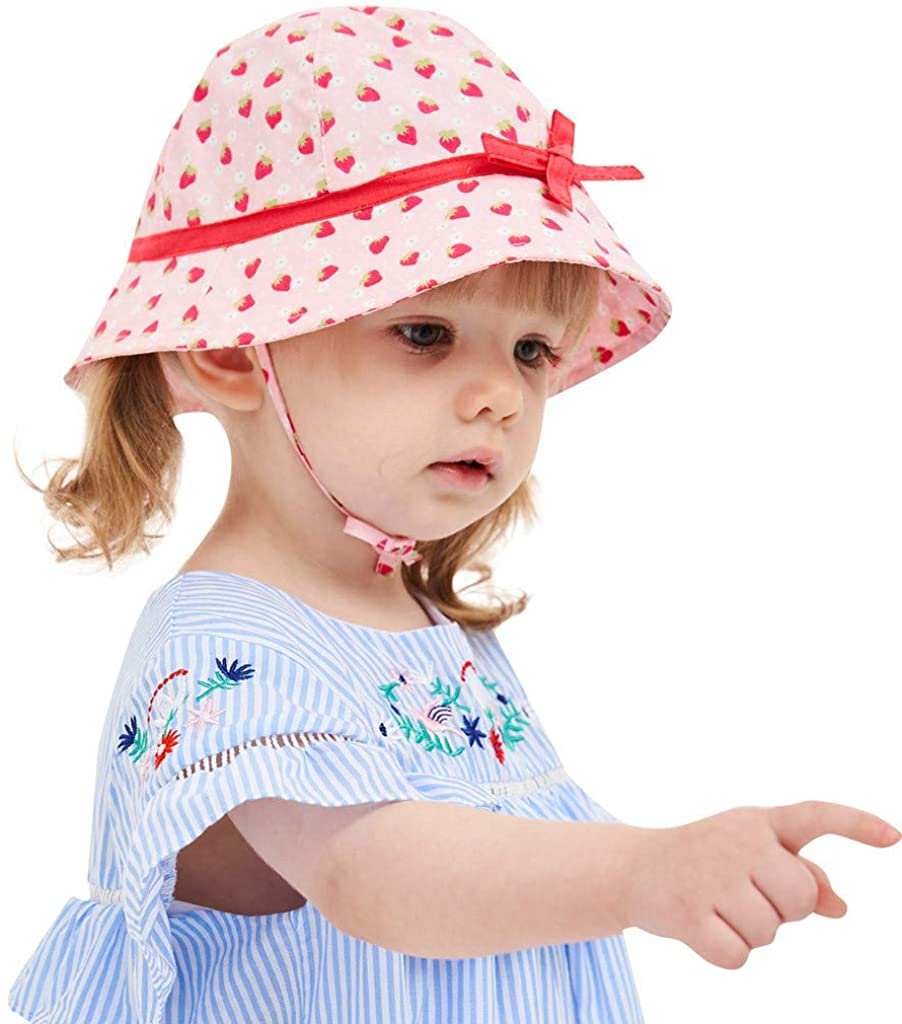 Fabal Infant Kids Baby Girls Lace Bowknot Beach Cap Princess Sunhat Protection Hats Pink