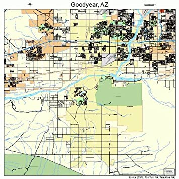 Amazon.com: Large Street & Road Map of Goodyear, Arizona AZ ... on map of amado az, map of johnson ranch az, map of tusayan az, map of valle az, map of pinedale az, map of heber overgaard az, map of salt river az, map of nutrioso az, map of la paz county az, map of superstition mountains az, map of sun city grand az, map of bouse az, map of arrowhead az, map of humboldt az, map of fort mcdowell az, map of christopher creek az, map of gila river az, map of portal az, map of black canyon city az, map of stanfield az,