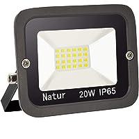20W LED Foco Exterior,bapro 3000k Alto Brillo Proyector Led,Impermeable IP65 Floodlight Led Iluminación para Patio, Camino, Jardín, Almacén (Blanco Cálido,20W)[Clase de Eficiencia Energética A++]