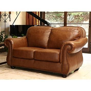 Amazing Amazon Com Abbyson Living Erickson Leather Loveseat In Creativecarmelina Interior Chair Design Creativecarmelinacom