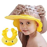 Baby Shower Cap Adjustable Silicone Shampoo Bath Cap Visor Cap Protect Eye Ear for Infants Toddlers Kids Children