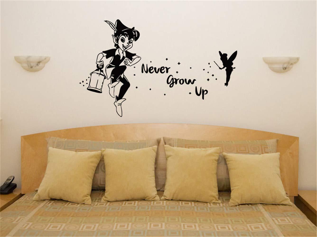 Tinkerbell Tatuajes de pared Peter Pan Nunca crecen Tinkerbell Art ...