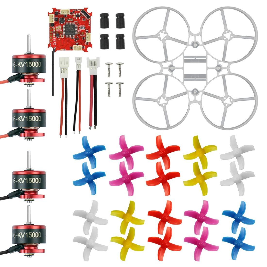FEICHAO FEICHAO FEICHAO 75mm Innen Brushless Whoop Racer-Drohne Kombi-Set Mini-Rahmen-Kit Crazybee ESC SE0703 Motor 4-Blatt-Propeller (Kit Set with 1500KV Motor) 4ea4e3