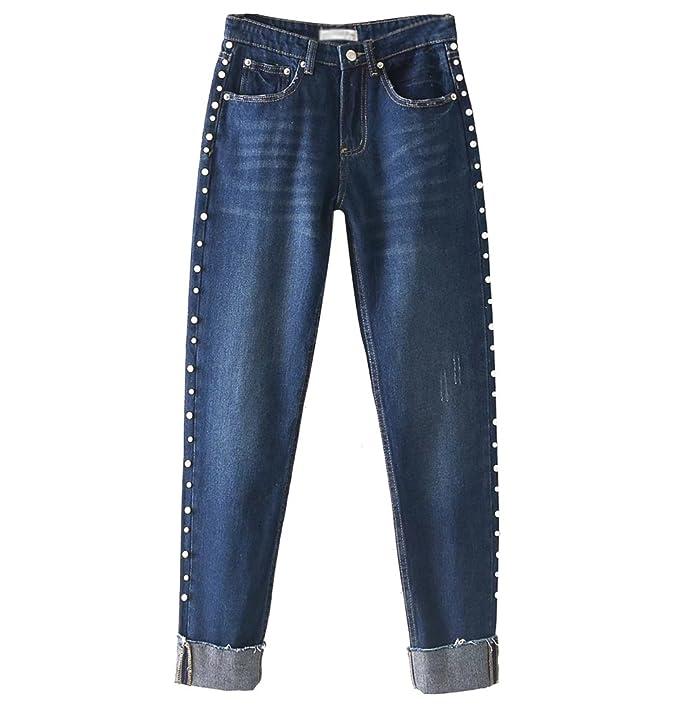 WanYang Mujer Jeans Boyfriend Moda Vaqueros Baggy Rectos ...