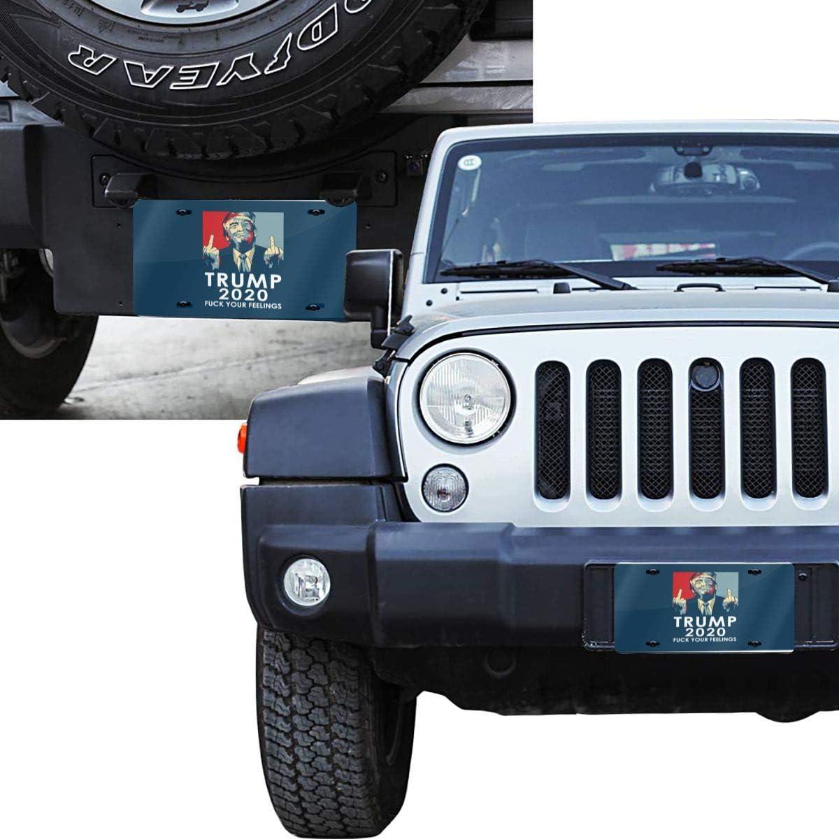 Jpnvxie Trump License Plate Covers Vanity Tag Metal Car Plate Decorative Car Front Aluminum License Plate for Men Women Boy Girls Car 6x12 Inch