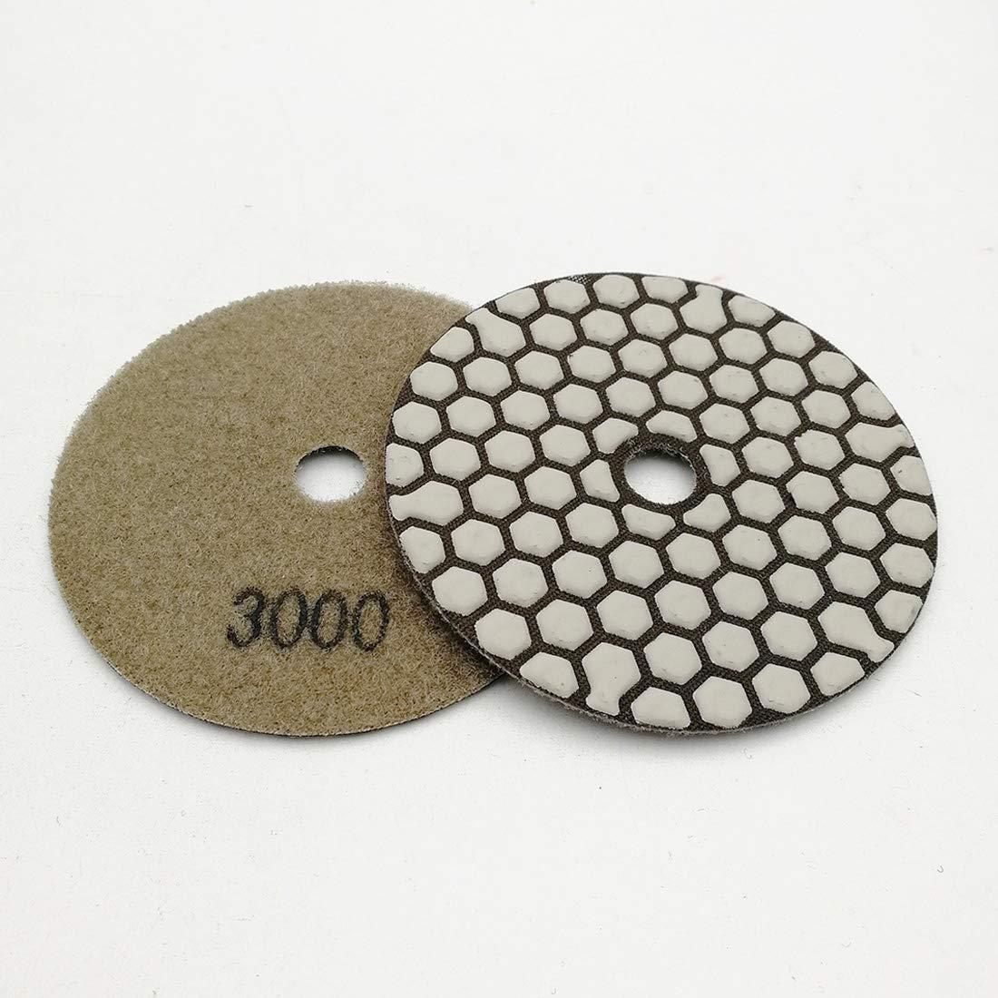 SHDIATOOL Diamante Almohadilla de Pulido 7 Piezas Grano 1500 para Pulir en Seco M/ármol Granito Piedra Cer/ámica Dia 100mm//4 Pulgadas