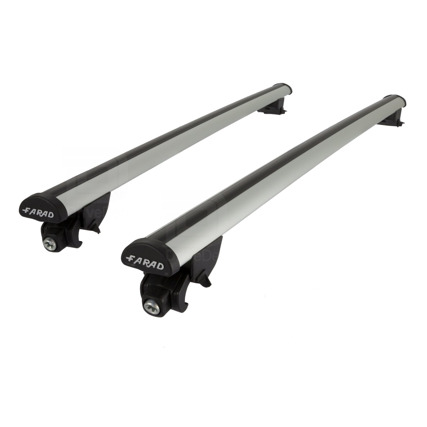 Farad FA-PRE-241 Aero Aluminium Silver Roof Bar Set (Closed Roof Rails)
