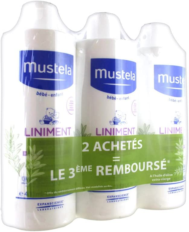 Mustela liniment dermo-protecteur lot de 3x 400ml: Amazon.es: Bebé