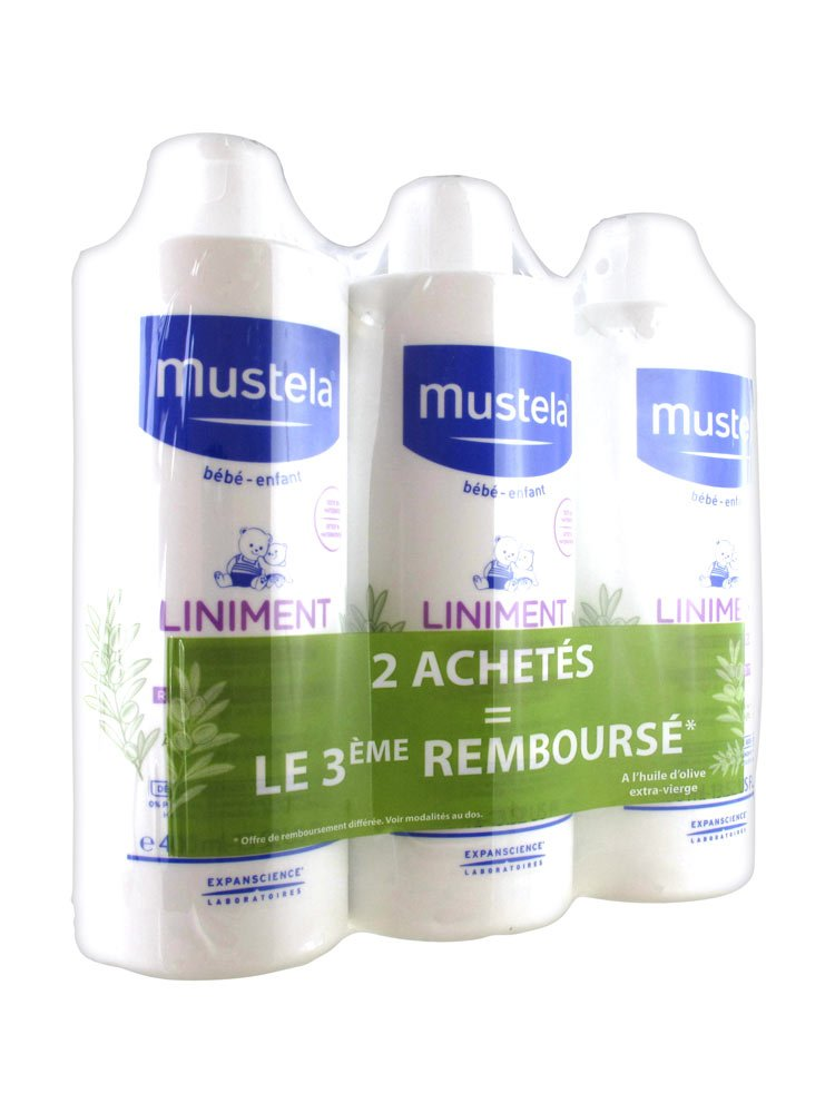 Mustela liniment dermo-protecteur lot de 3x 400ml product image